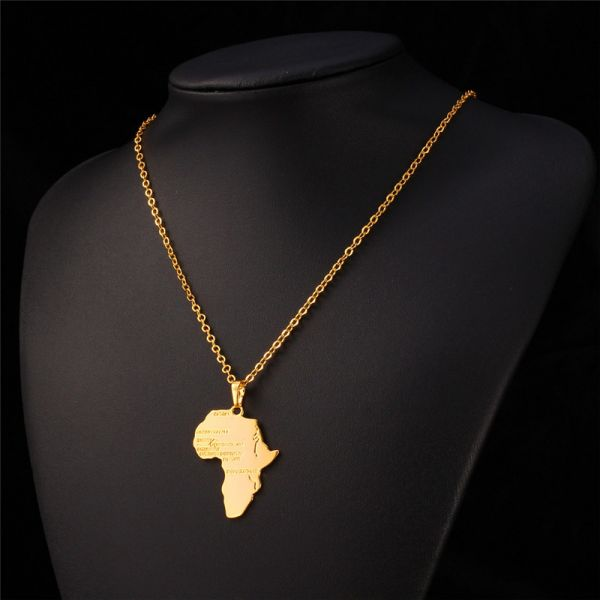 Africa map 18k gold plated necklaces pendants women men jewelry africa map 18k gold plated necklaces pendants women men jewelry gift aloadofball Images