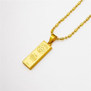 Sale on necklace for men buy necklace for men online at best price fashion 18k gold plated hip hop chain necklaces gold we trust pendants necklace for men aloadofball Image collections