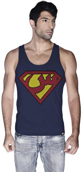 6e05d736052d82 Creo Superman Arabic Super Hero Tank Top For Men - Xl