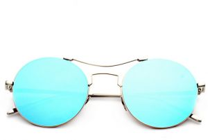 5669942041e Retro glass glance round the sun glasses frog mirror eyeglasses for men  ladies