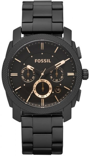 71ac9493249 Fossil Machine Men s Black Dial Stainless Steel Band Chronograph Watch -  FS4682. by Fossil