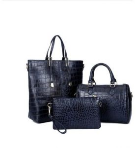 9a47f1e74c43b Multi-function Three-Piece Set Tote Bag for women - Leather