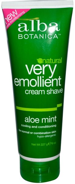 Health & Beauty Alba Botanica Shave Cream Aloe Mint Aftershave & Pre-shave