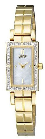Citizen EG2586-51D Eco-Drive Womens Watch Gold Stainless Steel White Dial