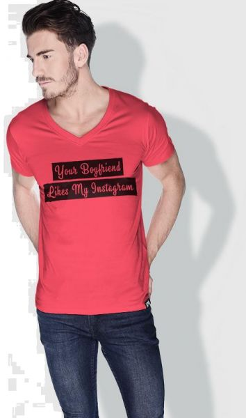 95402045 Creo Your Boyfriend Likes My Instagram Funny T-Shirts For Men - S ...