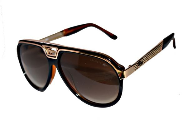 Lacoste Modern Brown And Golden Women Sunglasses 722 Price Review