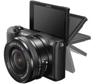 Sony Alpha a5100 with 16-50mm lens- 24.3 MP Mirrorless Camera, Black
