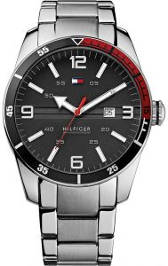 79fdcccd2 Tommy Hilfiger Noah Men s Black Dial Stainless Steel Band Watch - 1790916
