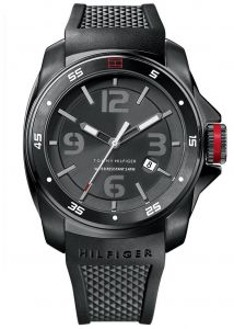 5834f8303c355 Tommy Hilfiger Windsurf Men s Black Dial Silicone Band Watch - 1790708