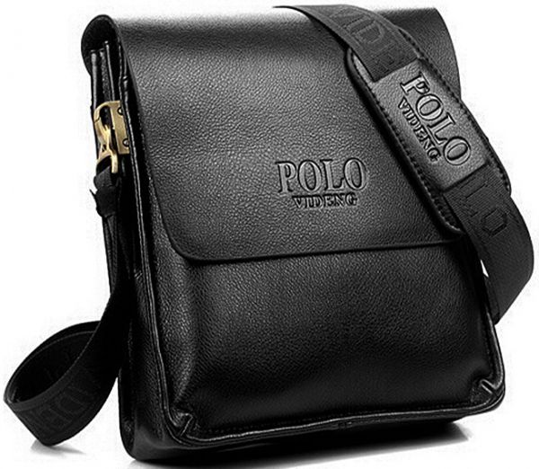 Videng Polo Leather Bag For Men , Black   Souq - UAE 50af5064fb