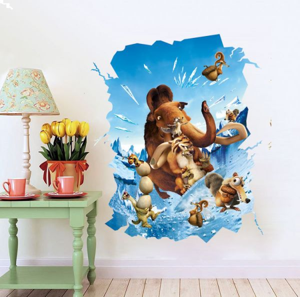 Souq Ice Age Animal Stereo Stickers For Kids Rooms Decals Home Decor Wall Decoration Bahrain