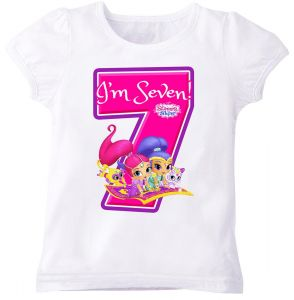 Princesses R Us Shimmer And Shine IM Eight Birthday T Shirt For Girls