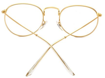 Full metal frame retro round flat mirror frame glasses c1 | Souq - UAE