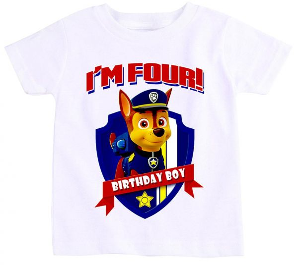 Paw Patrol Chase T Shirt For Boys