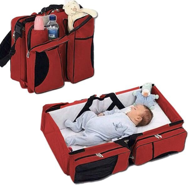 3cc28f990013 Baby Travel Cot Bag 3 in 1 (Red)