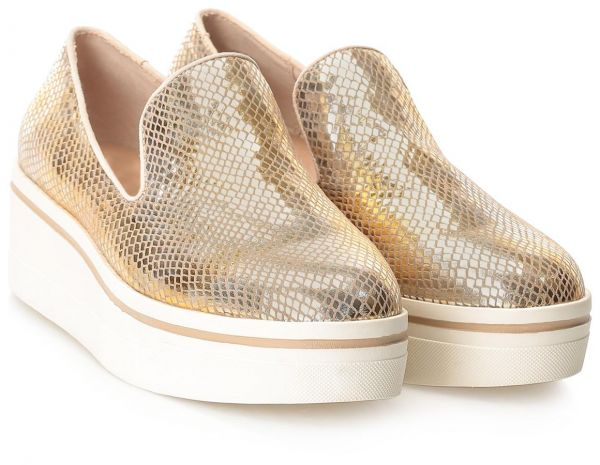 Steve Madden Gold Fashion Sneakers For Women
