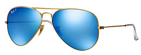 574b833b3 Ray-Ban Aviator Sunglasses for Unisex - Full Rim Gold Frame, Blue Flash  Lens, RB3025 112/4L