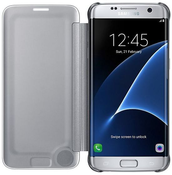Sky Clear View Case for Samsung Galaxy S7 Edge - Silver   Souq - UAE 1edcae882260