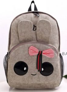 6834088ac29e canvas rabbit backpack style schoolbag kids girls travel shoulder bag