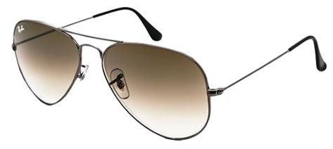 Rb3025 Aviator Large Metal 004/51 Gunmetal Crystal Brown Gradient 58/14 135 pei3Vfsedm