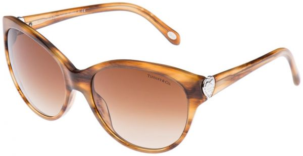 c70847f934f Tiffany   Co. Cat Eye Sunglasses for Women - Full Rim Brown Frame ...
