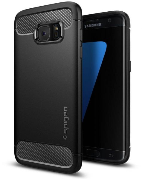 super popular a2db8 171a2 Spigen Samsung Galaxy S7 Edge Case Rugged Armor Black