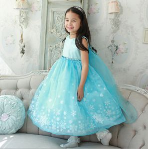 0e3fabc8f929 Xcr-f-5 4-8yrs Girls Luxury Disney Frozen Dress Princess Cosplay Dress