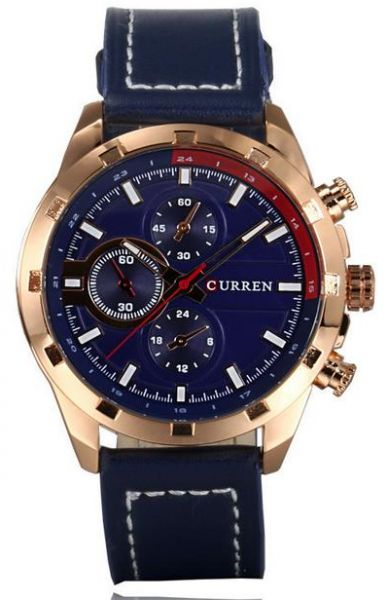 Curren brand men watches fashion casual watches with leather strap and blue dial curren 8216 Curren leisure style fashion watch price
