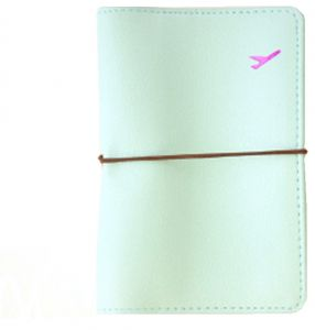 6e57f32cb Travel Leather Passport Holder Card Case Protector Cover Wallet Bag Blue