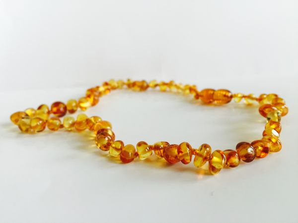 808be3383c49 Baltic Amber Baby teething necklace