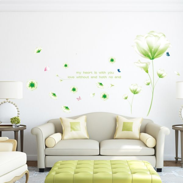 diy romantic flower wall stickers tv wall decorative wallpaper