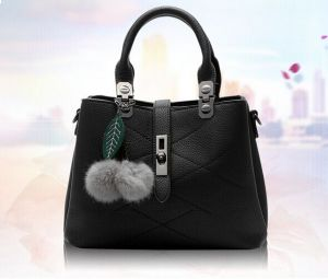 419293eea57 Sweet and Stylish fringed hair ball decorative leisure handbag Messenger bag  for women WB79