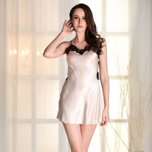 Ladies Halter Nightdress Transparent V Collar Summer ad1d4a0b1