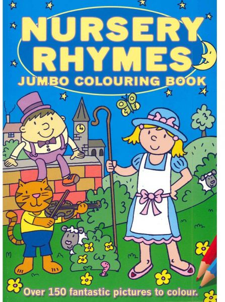 Souq | Nursery Rhymes Jumbo Colouring Book | UAE