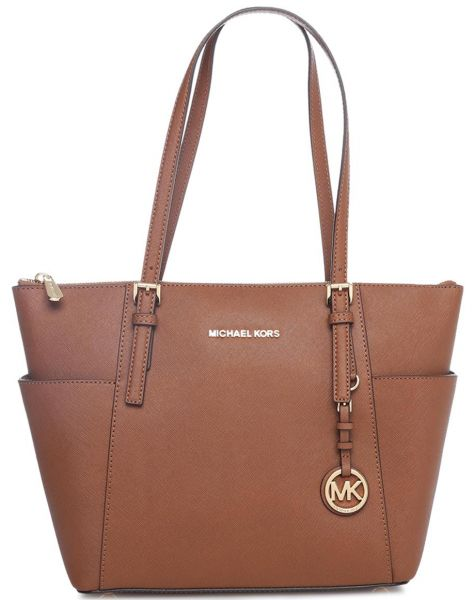 Michael Kors 30f2gttt8l 230 Jet Set Top Zip Saffiano Tote Bag For Women Leather Luggage