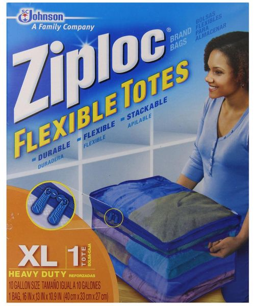 Ziploc Xl Flexible Storage Tote Bag 70161