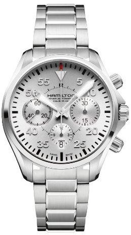 Hamilton Silver Stainless Silver dial Watch for Men's H64666155