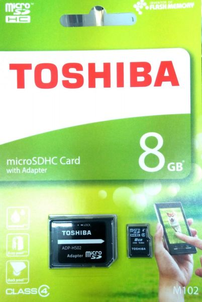 287b13400d2 Toshiba 8 GB Memory Card For Mobile Phones - Micro SD Cards - M102 ...