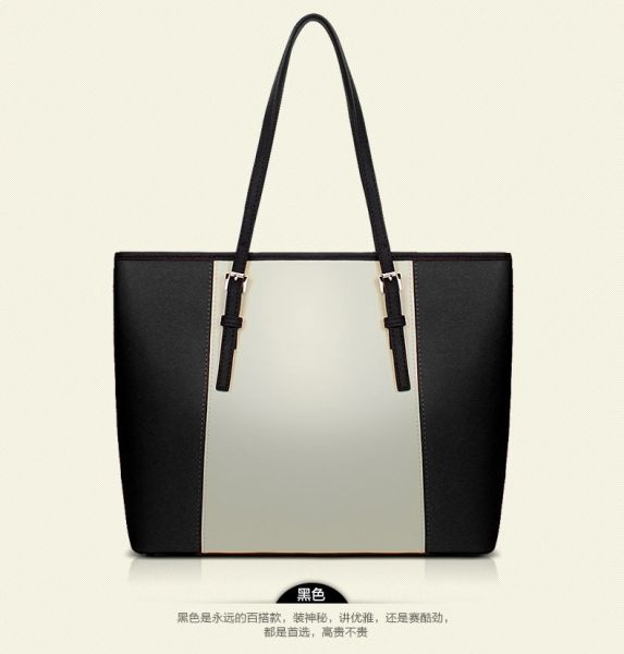 Fashion Shoulder Bag For Women Stylish Black And White HandBag European  Style Ladies Tote Bag  64b5be779efd9