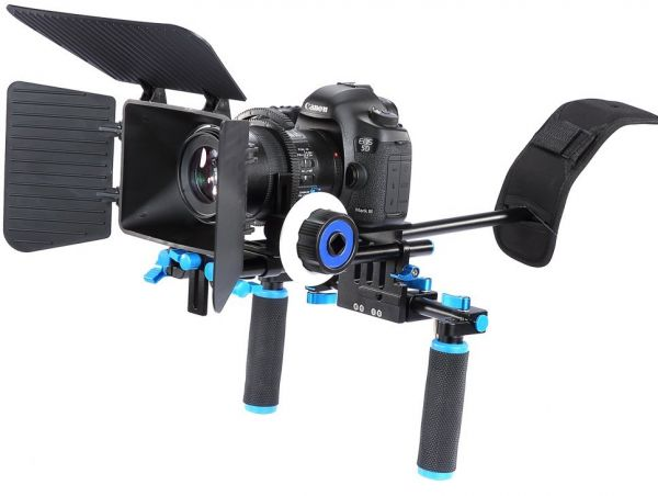 COOPIC VRS1 DSLR RIG for Canon 1D 1DII 5DIII 6D 7D 80D and Nikon D5