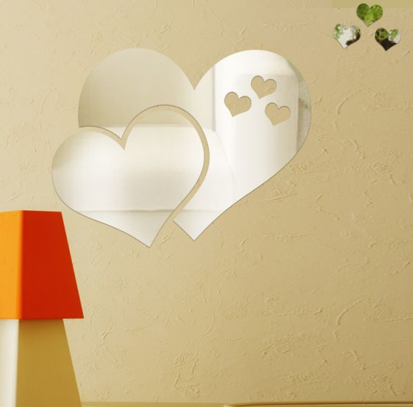 Souq | Acrylic Mirror Wall Stickers Love Wallpaper Room Decoration ...