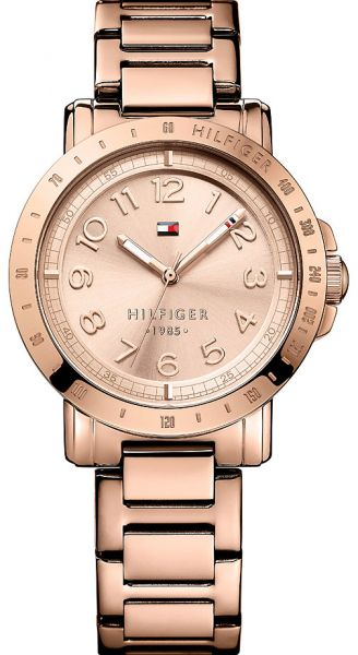 2982da06 Tommy Hilfiger Liv Women's Rose Gold Dial Stainless Steel Band Watch -  1781396