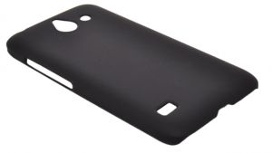 For Huawei Ascend Y550 - Coverking Protective Slim Plastic Hard Case Cover - Black