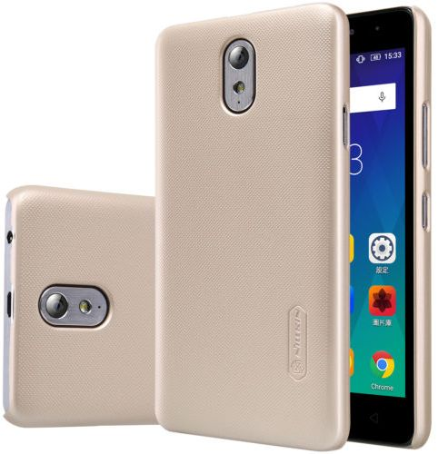 the latest bf954 163c0 Nillkin Frosted Shield Back Cover Case Lenovo VIBE P1m - gold