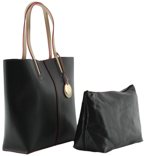 Beverly Hills Polo Club Tote Bag For Women Leather Black