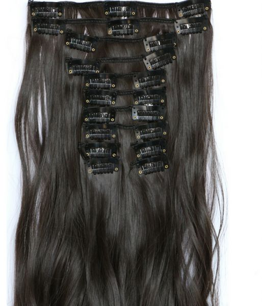 Buy Beautiful Soft Fluffy 12pcs Long Curly Hair Extension 60cm Wig