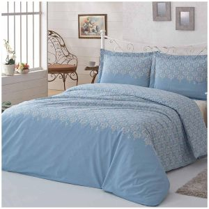 US Polo ASSN 3 Pieces Duvet Cover Set - Twin/Single (160 x 220 cm) - Blue  and White