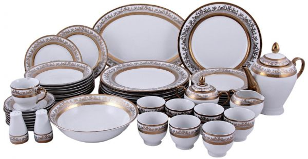This item is currently out of stock  sc 1 st  Souq.com & Souq | Horse Lane Porcelain 49 Pieces Embossed Dinner Set White ...