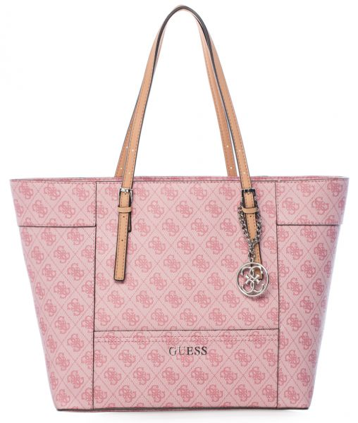 Guess SI453523-ROS Delaney Medium Classic Tote Bag for Women - PVC ... dc46146562dbd