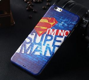 new concept bb695 ce4ee Iphone6s plus silicone case men stylish 3D painted shell slim back cover  screen protector IP626 WBS